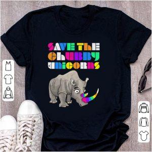 Original Save The Chubby Unicorns Rainbow shirt