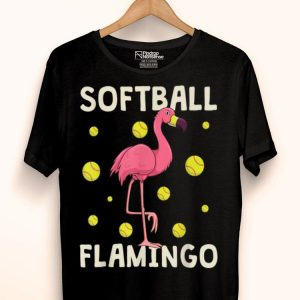 Pink Flamingo Softball Fastpitch Catcher Girl shirt