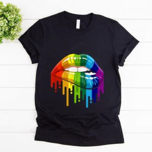 Pretty Rainbow Lip LGBT Gay Lesbian Pride shirt