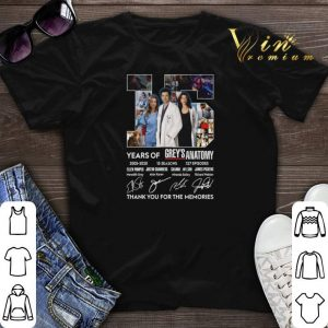 Thank you for the memories 15 years of Grey's Anatomy 2005-2020 shirt