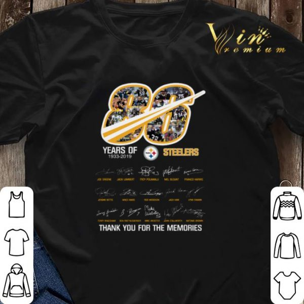 Thank you for the memories 86 years of 1933-2019 Steelers shirt