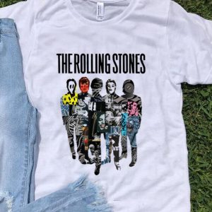 Top Rolling Stones Official Silhouette Collage shirt