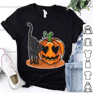 Awesome Halloween Cat Pumpkin Love shirt