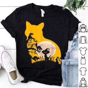 Awesome Halloween Cat With Costume shirt