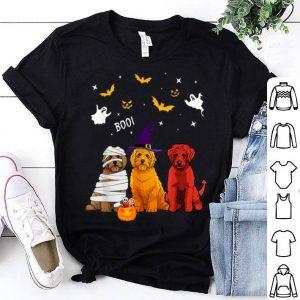 Awesome Halloween Golden Doodle Pumpkin Boo Ghost Doodle Gift shirt