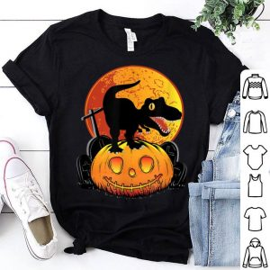 Beautiful Halloween Pumpkin Dinosaur Trex Spooky shirt