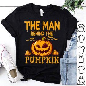 Beautiful Mens Funny Dad Husband Guy Man Behind The Pumpkin Halloween shirt