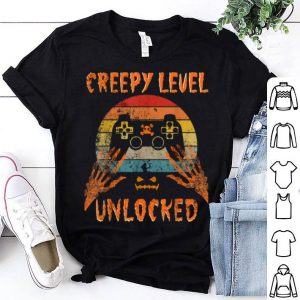 Creepy Level Unlocked Halloween Video Gamer Costume Boys shirt