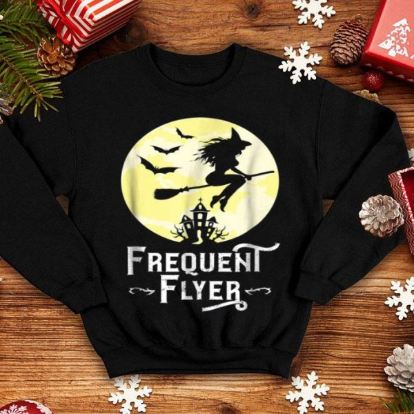 Frequent Flyer Funny Witch Halloween Teacher shirt
