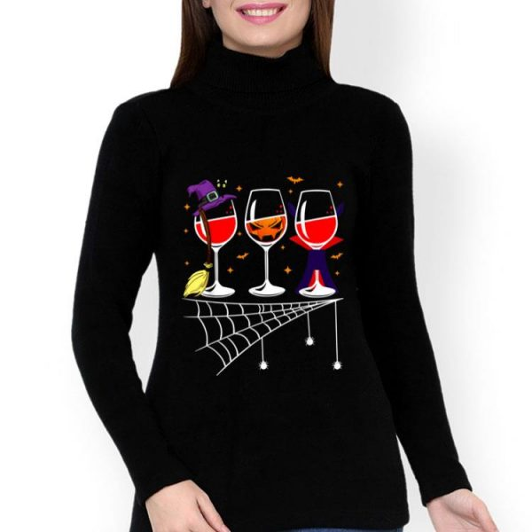 Glasses Of Wine Halloween Costume Dracula Witch For Men shirt