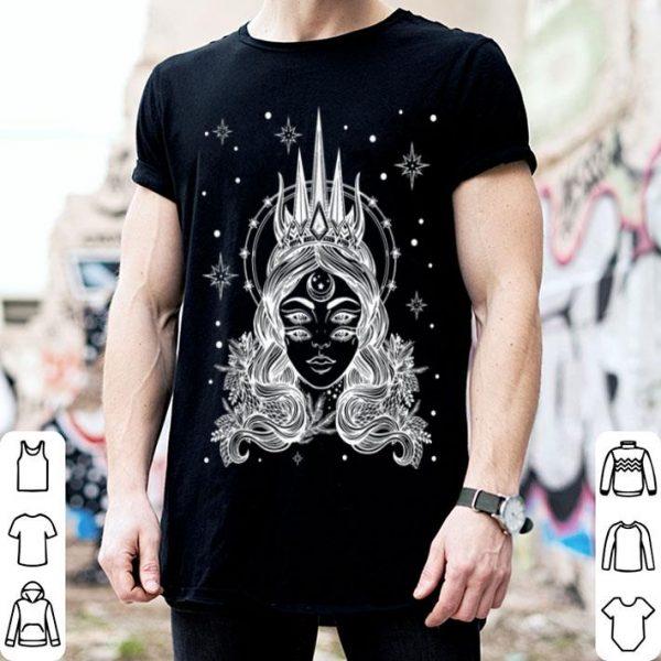 Horned Devil Girl Satanic Halloween Glitch Goth shirt