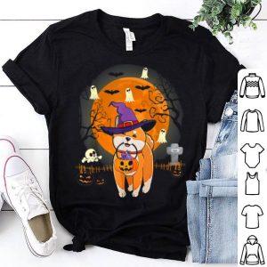 Hot Shiba Inu Dog Witch Halloween Pumpkin Halloween shirt