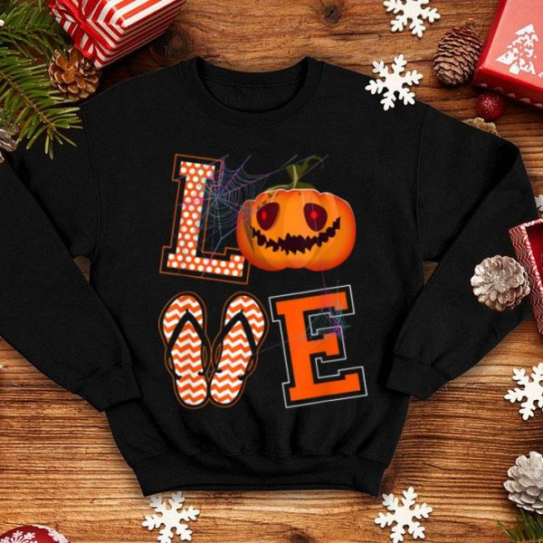 Love Flip Flops Pumpkin Halloween Halloween Gifts shirt