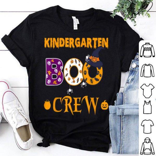 Nice Kindergarten Boo Crew Halloween Gift For Teachers And Kids shirt