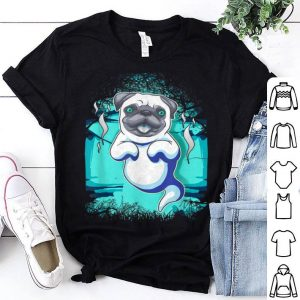 Official Funny Pug Halloween Ghost Art shirt
