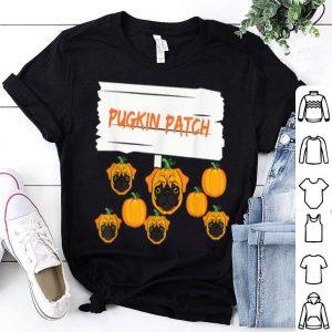 Official Halloween Pug Pumpkin Patch Dog Lovers Pugkin Tee shirt