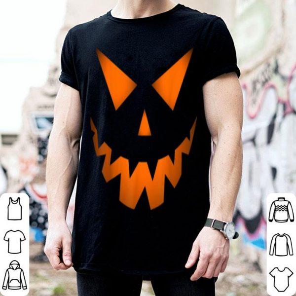 Official Lantern Halloween Pumpkin Face Smile Gift For Men And Women shirt
