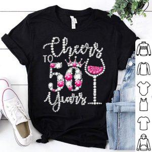 Premium Cheers to 50 Years 50th Birthday diamond wine Crown shirt