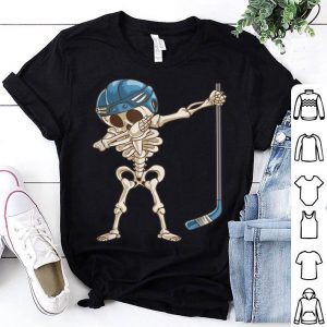 Premium Dabbing Skeleton Hockey Halloween Kids Boys Men Gift shirt