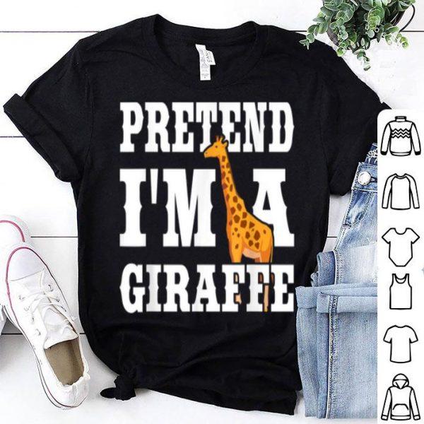 Pretend I'm A Giraffe Funny Halloween Party Costume Gift shirt