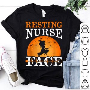 Resting Nurse Face Witch Funny Halloween Party Costume shirt