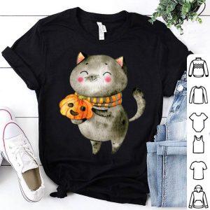 Top Cat Halloween Cat Costume Tee Pumpkin Jack-O-Lantern shirt