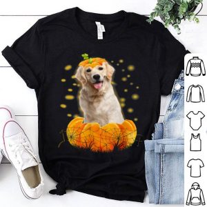 Top Cute Labrador Dog In Pumpkin Funny Dog Person Halloween shirt