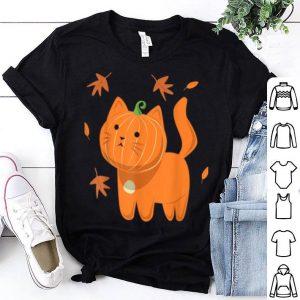 Top Halloween Cat Cat Pumpkin Jack-o-lantern shirt