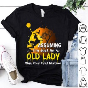 Witch Assuming Im just an Old Lady Halloween Costume shirt