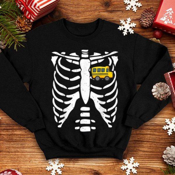 Awesome Bus Driver Halloween Costume Skeleton Bone Rib Dad Tee shirt