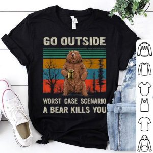 Awesome Camping Go Outside Worst Case A Bear Kills You shirt