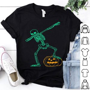 Awesome Dabbing Skelleton - Happy Halloween Pumpkin - Party Costume shirt