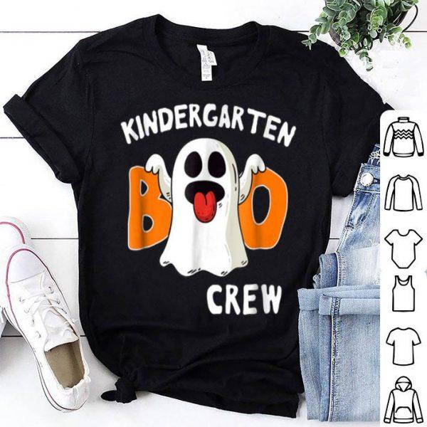 Awesome Kindergarten Halloween Boo Crew Ghost Tee shirt