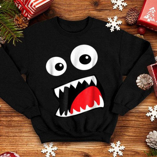 Awesome Monster Face Costume Funny Halloween Kids Adults shirt