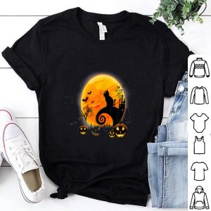 Beautiful Black Cat Pumpkin Moon Halloween Costume Funny shirt