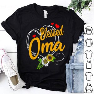 Beautiful Blessed Oma Grandma Thanksgiving Christmas Mother's Day Gift shirt
