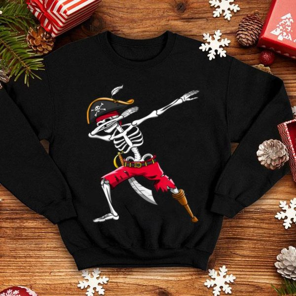 Beautiful Dabbing Skeleton Pirate Kids Boys Halloween Gift Dab shirt