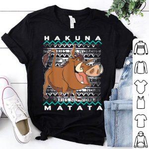 Beautiful Disney Lion King Pumba Ugly Christmas Graphic shirt