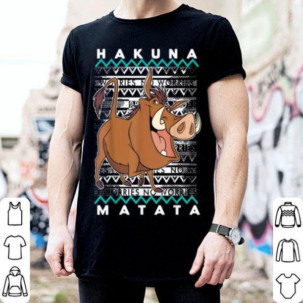 Beautiful Disney Lion King Pumba Ugly Christmas Graphic shirt