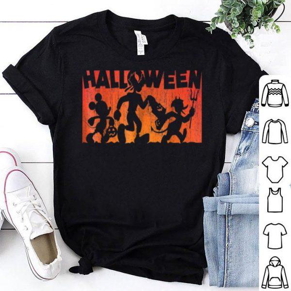 Beautiful Disney Mickey Mouse and Friends Halloween Walk shirt