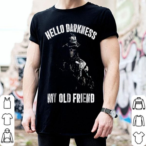 Beautiful Hello Darkness My Old Friend Veteran Skull shirt