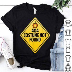 Funny Error 404 Costume Not Found Funny Halloween shirt