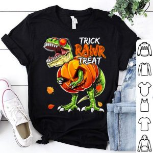 Funny Halloween Dinosaur Pumpkin Jack-O-Lantern Boys Gift shirt