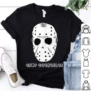 Hot Scary Camp Counselor Halloween Horror Mask Quick Costume shirt