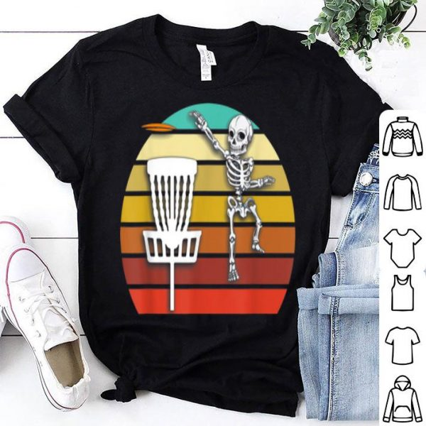 Hot Skeleton Disc Golf Halloween shirt