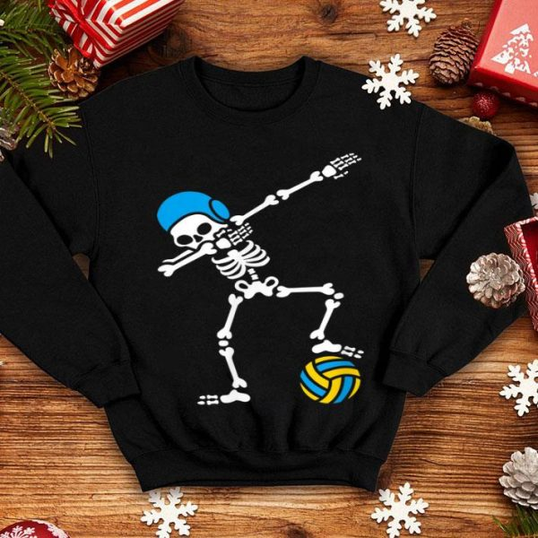 Nice Dab dabbing skeleton Water polo Halloween swim shirt