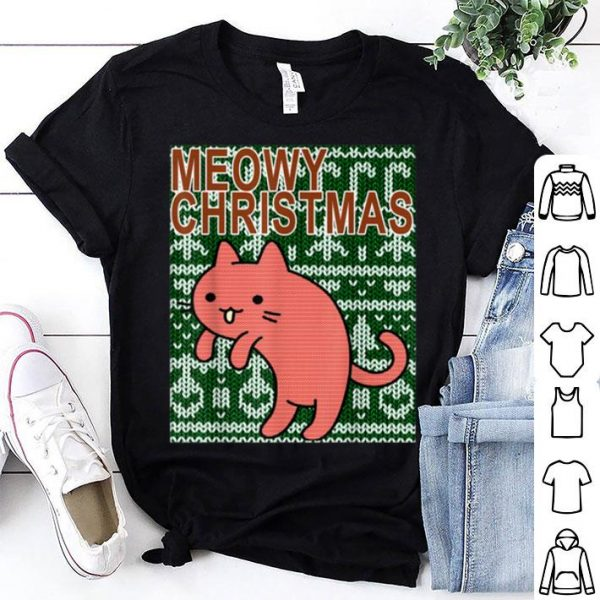Official Christmas Ugly Cat shirt