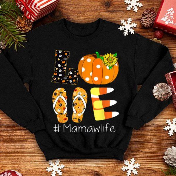 Official Love Mamaw life- Halloween sunflower Pumpkin shirt