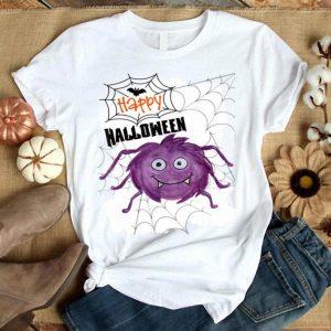 Original Cute Happy Halloween Cobweb Spider Design shirt