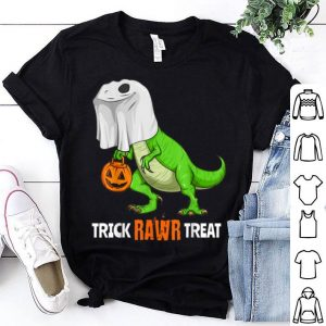 Original Halloween T Rex Dinosaur Ghost Trick RAWR Treat Funny Cute shirt